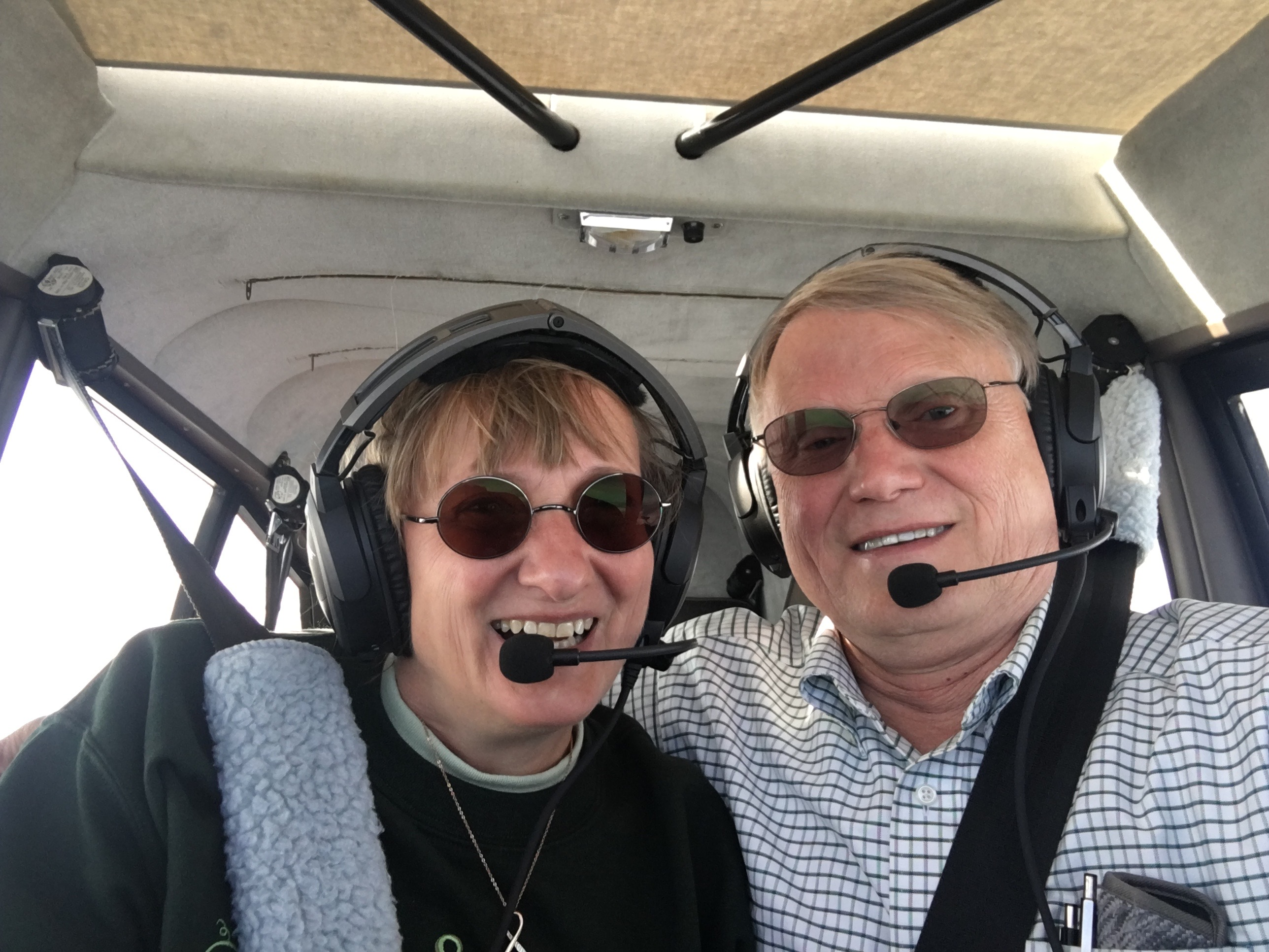 Paul and Bella flying the Maule